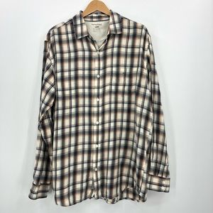 Horny Toad plaid button up inside & outside pocket
